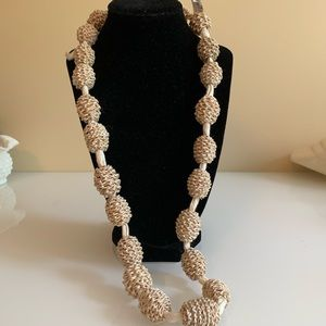 Jewelry - Large Natural Linen Beaded Necklace